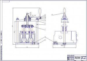 A1 съемник 803.06.000 для снятия и установки клап. пружин камаз (2)
