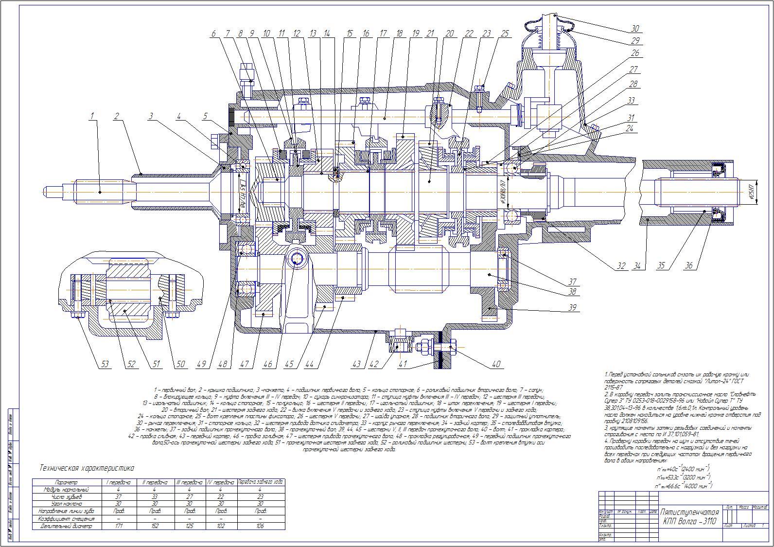 Планетарная коробка передач кинематическая схема